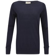 John Smedley Women's Alicia Cashmere-Mix Boat Neck Sweater - Navy