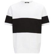 Ashley Marc Hovelle Men's Sweat T-Shirt - White/Black