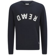 Wood Wood Men's Yale Knitted Sweater - Navy