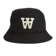 Wood Wood AA Logo Bucket Hat - Black