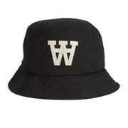 Wood Wood AA Logo Bucket Hat - Black