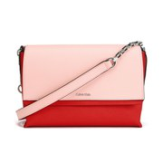 Calvin Klein Women's Sofie Small Crossbody Bag with Chain Strap - Bold Red/Pale Blush