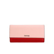 Calvin Klein Women's Sofie Large Trifold Wallet - Bold Red/Pale Blush