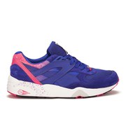 Puma Men's R698 Splatter Trainers - Blue/Teaberry Red