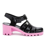 Black and Pink Jelly Heel Shoe - AllSole