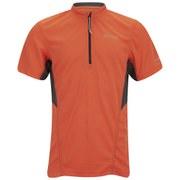 Regatta Men's Point 214 Breakbar Zip Neck Tech T-Shirt - Magma/Seal Grey