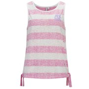 Animal Women's Carmyn Stripe Side Tie Vest - Pastel Pink