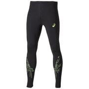 Asics Men's Tiger Running Tights - Black/Green Gecko