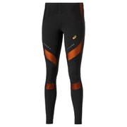 Asics Women's Leg Balance Running Tights - Black/Fizzy Peach