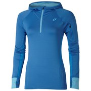 Asics Women's Half Zip Long Sleeve Running Hoody - Jeans Blue