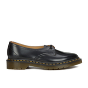 Dr. Martens Women's Core Siano 1-Eye Leather Shoes - Black Polished Smooth