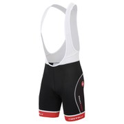 Castelli Free Tri Bib Shorts - White/Black/Red