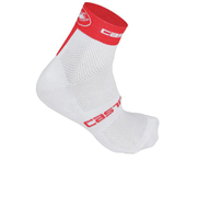 Castelli Free 6 Cycling Socks - White/Red