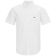 Lacoste Men's Short Sleeve Oxford Shirt - White