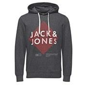 Jack & Jones Men's Covan Hoody - Dark Grey