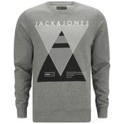 Jack & Jones Men's Covan Crew Neck Sweatshirt - Light Grey