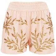 Vero Moda Women's Leola Beaded Shorts - Tropical Peach