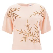 Vero Moda Women's Leola Beaded Top - Tropical Peach