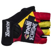 Santini Cinelli Chrome Summer Race Mitts - Black/Orange