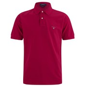 GANT Men's Solid Pique Rugger Polo Shirt - Red