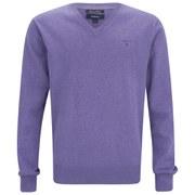 GANT Men's Cotton V-Neck Knitted Jumper - Lavender