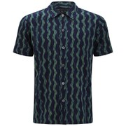 Marc by Marc Jacobs Men's Printed Electric Ikat Short Sleeve Shirt - Navy/Green
