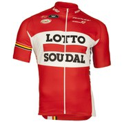 Lotto Soudal Replica Short Sleeve Full Zip Jersey - Red