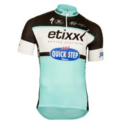 Etixx Quick-Step Replica Short Sleeve Jersey - Black/Blue