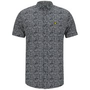 Lyle & Scott Men's Etch Print Shirt - New Navy