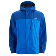 Columbia Men's Pouring Adventure Waterproof Jacket - Hyper Blue/Marine Blue