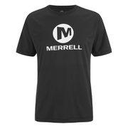 Merrell Men's Stacked Logo Trail Tech T-Shirt - Black/White
