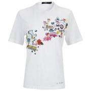 Markus Lupfer Women's Sticker Print Digital Alex T-Shirt - White
