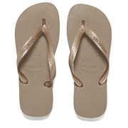 Havaianas Women's Top Metallic Flip Flops - Rose Gold