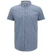 Soul Star Men's Ms Marcy Printed Shirt - Mid Blue