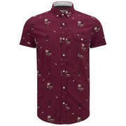 Soul Star Men's Ms Hula 9 Printed Shirt - Red