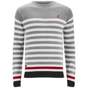 Kangol Men's Cranfield Knitted Jumper - Grey Marl