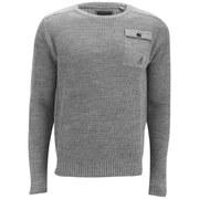 Kangol Men's Tenby Knitted Jumper - Grey Marl
