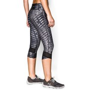 Under Armour Women's Printed Fly By Running Capri Pants - Black/Reflective