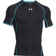 Under Armour Men's Armour Heat Gear Short Sleeve Training T-Shirt - Black/Steel