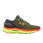 Under Armour Men's Speedform Gemini Running Shoes - Lead/High-Vis Yellow/Bolt Orange