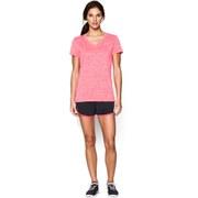 Under Armour Women's Short Sleeve Twisted Tech T-Shirt - Pink Shock/Metallic Silver