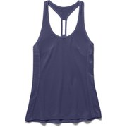 Under Armour Women's Fly By Stretch Mesh Running Tank Top - Faded Ink/Reflective