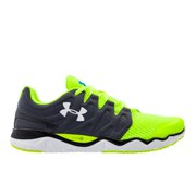 Under Armour Men's Micro G Optimum Running Shoes - Lead/High-Vis Yellow/Metallic Silver