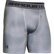 Under Armour Men's Armour Heat Gear Compression Training Shorts - White/Graphite