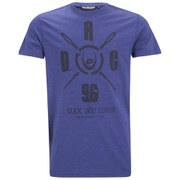 Duck and Cover Men's Stanley Graphic Crew Neck T-Shirt - Petrol Melange
