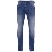 Duck and Cover Men's Boxren Tapered Fit Jeans - Washed Blue