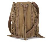 Maison Scotch Women's Cute Leather Bucket Bag - Tan