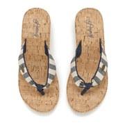 Animal Women's Susie Cork Wedged Sandals - Navy