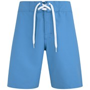 Animal Mens 20 Inch Bodella Fixed Waist Board Shorts - Mid Blue