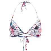 French Connection Women's Floral Reef Triangle Bikini Top - White/Multi